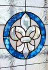 Fleur de Lis bevel window